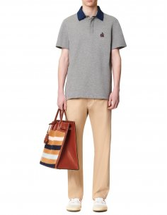 Lanvin - Polo Gris Col gros grains