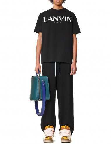 """Lanvin - T-shirt Noir imprimé """"Lanvin Paris"""""""