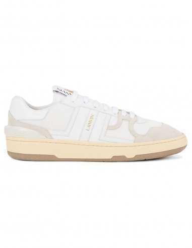 Lanvin - Sneakers basses en cuir blanc