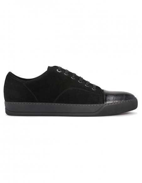 Lanvin - Sneakers DBB1 en suède et cuir noirs