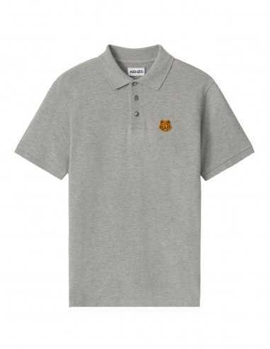 Kenzo - Polo Tiger Crest Gris Perle