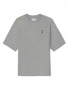 Kenzo - T-Shirt Gris Oversize au Logo 'K'
