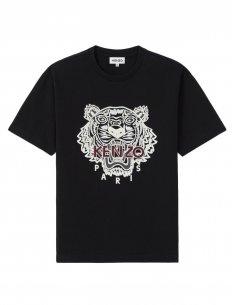 Kenzo - T-Shirt Noir Oversize Tigre Brodé