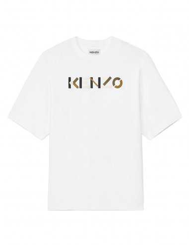 Kenzo - T-Shirt Blanc Oversize Logo 'Kenzo'