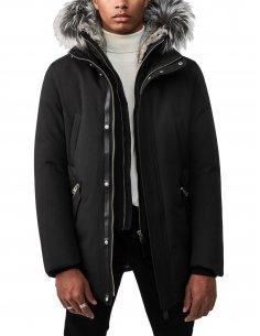 Mackage - Manteau de Duvet avec Plastron Noir et Argent