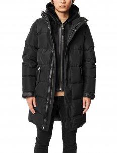 Mackage - Manteau en Duvet avec Plastron et Capuche Noir