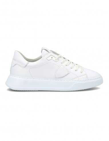 "Philippe Model - Sneakers ""Temple Veau"" en cuir Blanc"