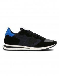 "Philippe Model - Sneakers TRPX ""Mondial Gomme"" Noires Bluettes"