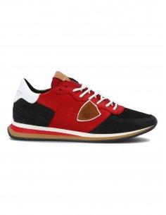 Philippe Model - Sneakers TRPX en cuir Rouge