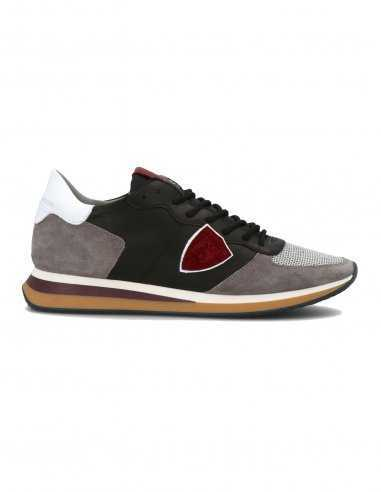 Philippe Model - Sneakers TRPX en cuir Noir et Gris