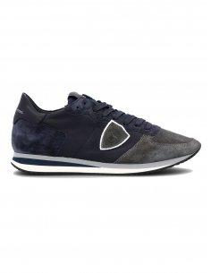 Philippe Model - Sneakers TRPX en Daim Gris Bleu