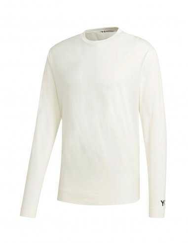 Y-3 Adidas - T-shirt Manches Longues Logo Y-3 Blanc