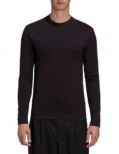 Y-3 Adidas - T-shirt Manches Longues Logo Y-3 Noir