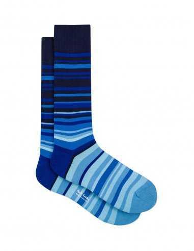 Paul Smith - Chaussettes à rayures dégradé bleu
