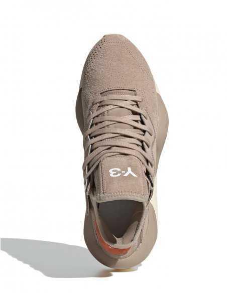 Y-3 Adidas - Sneakers Beiges en Daim