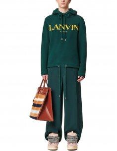 Lanvin - Sweatshirt Hoodie Imprimé Vert