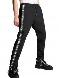 Dsquared2 - Pantalon de Jogging Noir avec Bandes Latérales
