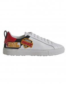 Dsquared2 - Sneakers en Cuir Blanches au Logo Brodé