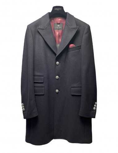 Lords & Fools - Manteau Long Bleu Marine