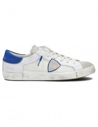 "Philippe Model - Sneakers ""Prsx Veau"" Blanches et Bleues | Toulouse"