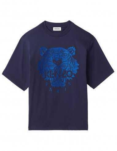 Kenzo - T-shirt Tigre Oversize Bleu