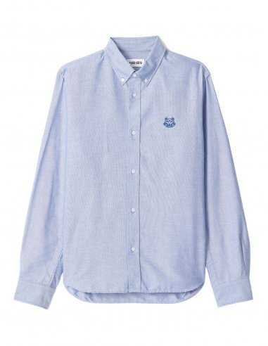 Chemise Casual Tiger Crest Bleu Royal | Kenzo Homme Toulouse