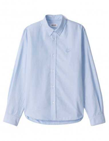 Chemise Casual Tiger Crest Bleu Clair | Kenzo Homme Toulouse