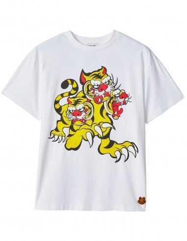 Kenzo - T-shirt Blanc 'Trois Tigres' Kenzo x KansaiYamamoto   Toulouse