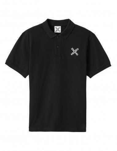 Kenzo Sport - Polo Noir Logo 'Little X'