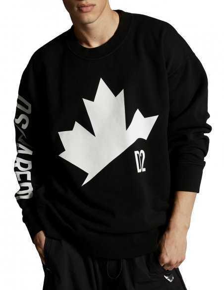 Sweatshirt Noir Logo Imprimé    Dsquared2 Toulouse