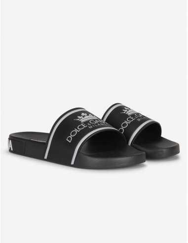 Dolce & Gabbana - Sandales Noires à...