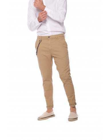 Pantalon Osaka en Coton Noisette   Mason's Homme Toulouse