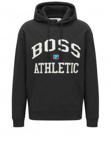 Sweatshirt à Capuche avec Logo Noir | BOSS x Russell Athletic à Toulouse