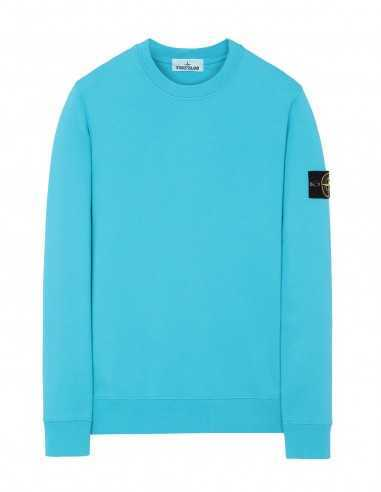 Sweat-shirt à Col Rond Bleu Turquoise Stone Island Homme Toulouse