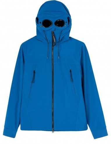 Veste Softshell Bleue avec Capuche Goggle Hood | CP Company Homme à Toulouse