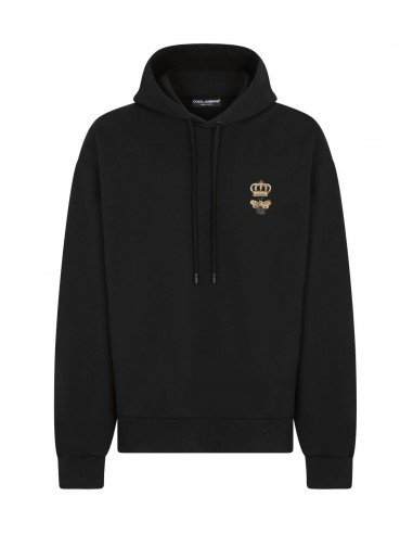 Sweat-shirt en Jersey à Capuche Noir | Dolce & Gabbana pour Homme - Toulouse