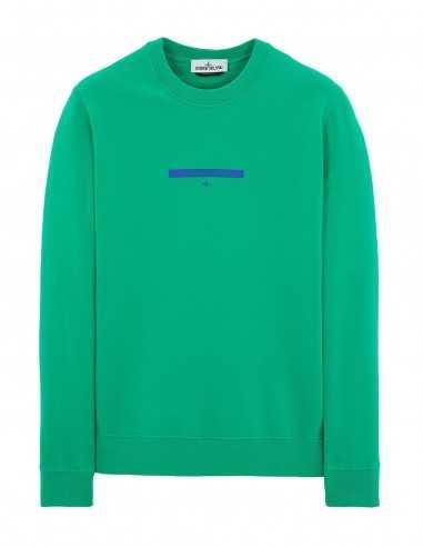 Sweatshirt Teint en Pièce Vert | Sweatshirts tendances pour l'hiver - Stone Island Homme