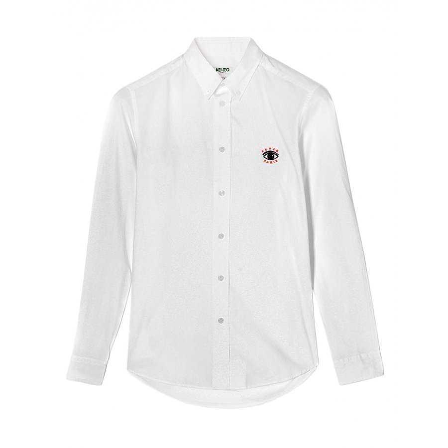 Chemise kenzo, en coton, blanc, manches longue, coupe slim 62bca478b73c