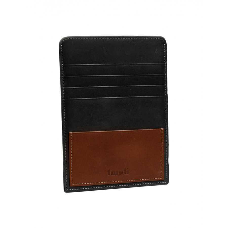 Porte Passeport Et Porte Carte Lundi En Cuir Noir Pour Homme - Porte passeport cuir
